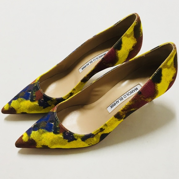 2b52d39b310 Manolo Blahnik BB Henri abstract pumps 38 8